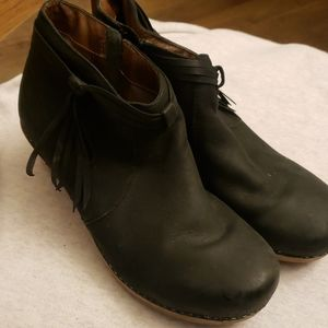 Dansko  zipper boot wood heel